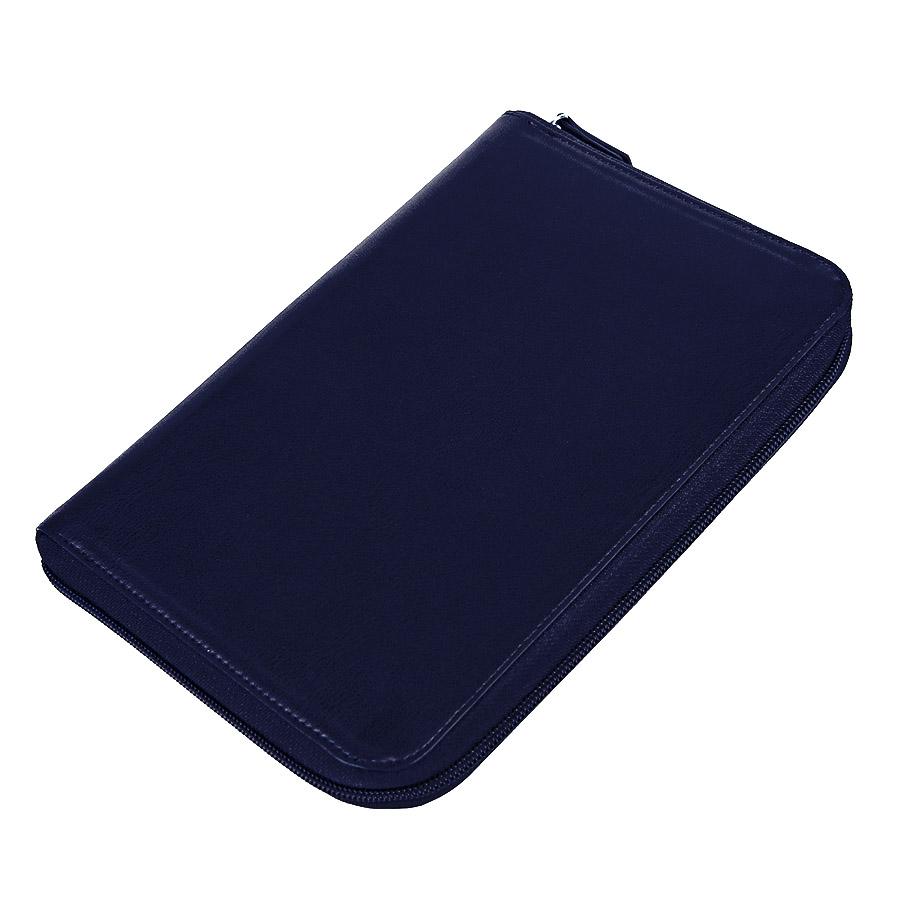 Ежедневник недатированный Chief , A5, на молнии, темно-синий, кремовый блок, подарочная коробка