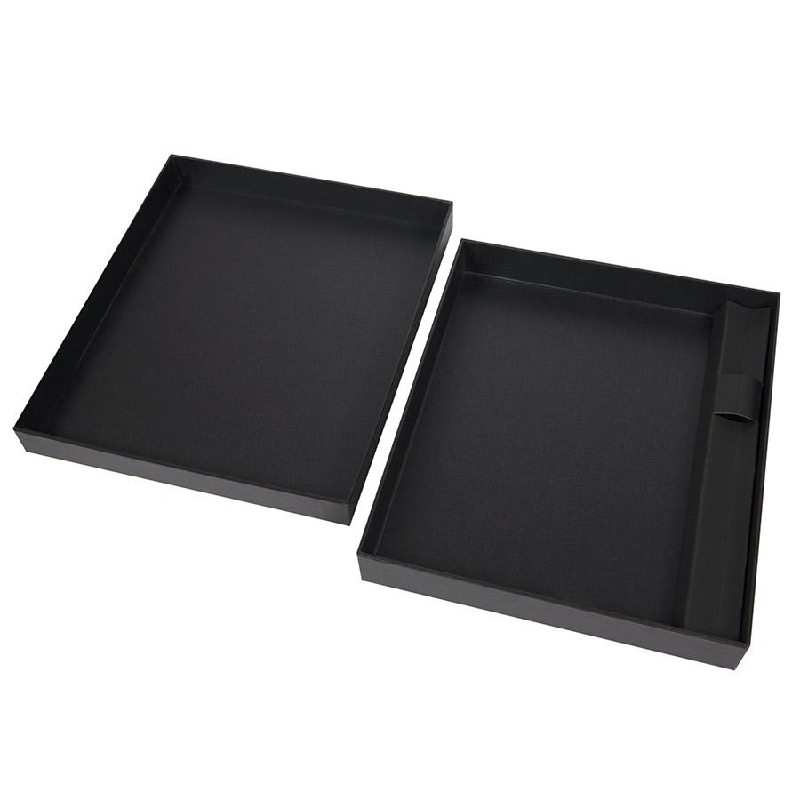 Коробка под ежедневник 130*210 мм и ручку, картон, черный