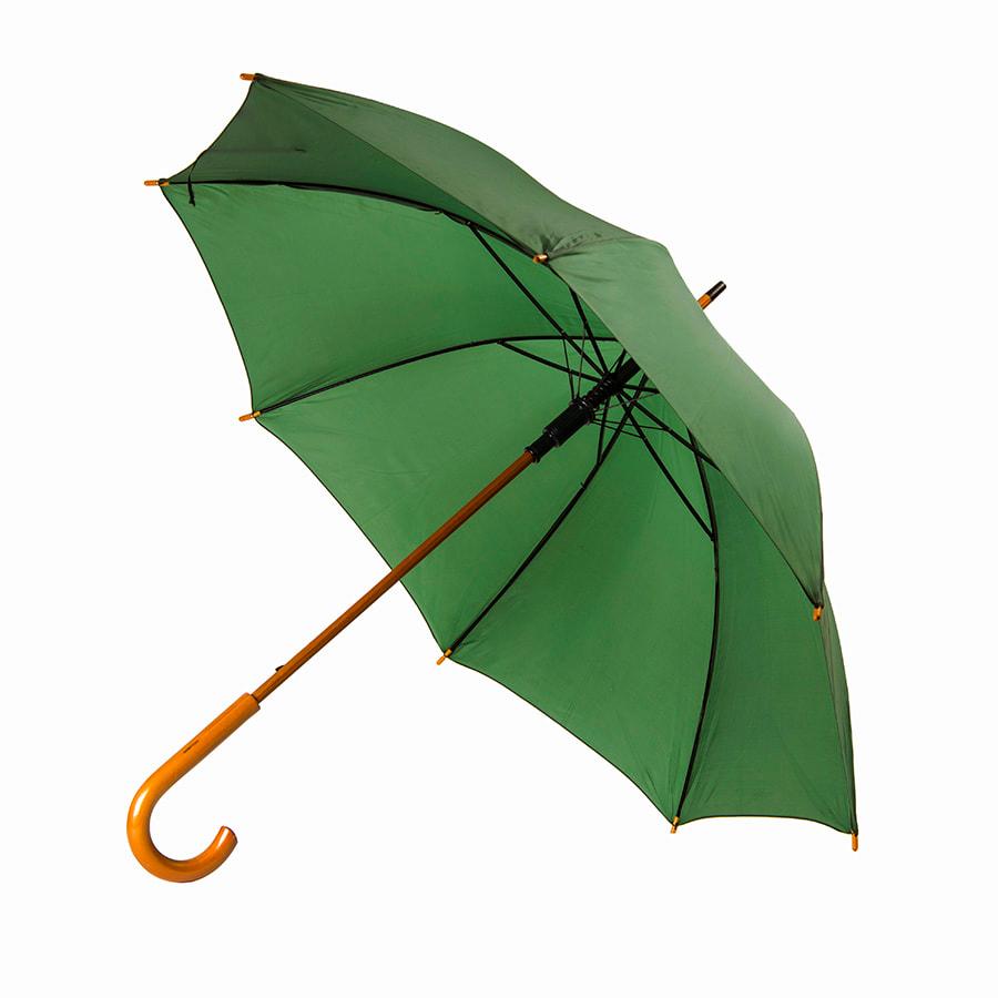 Зонт-трость механический, деревянная ручка
