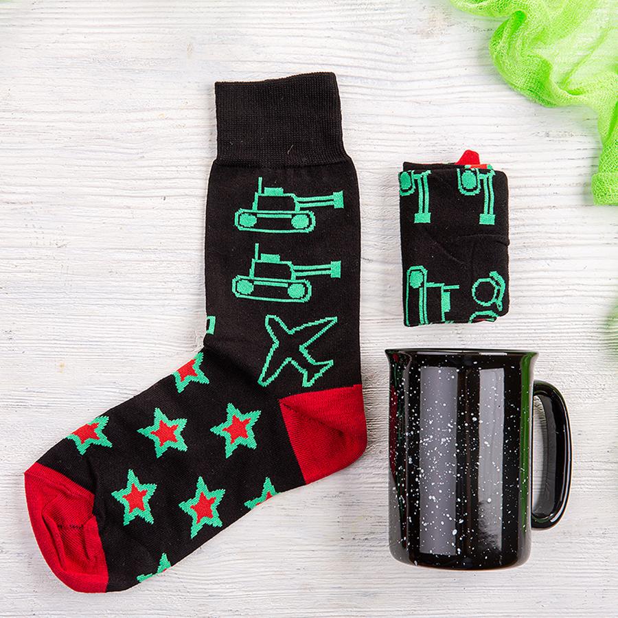 Набор подарочный STARPOWER: носки, кружка, коробка и стружка