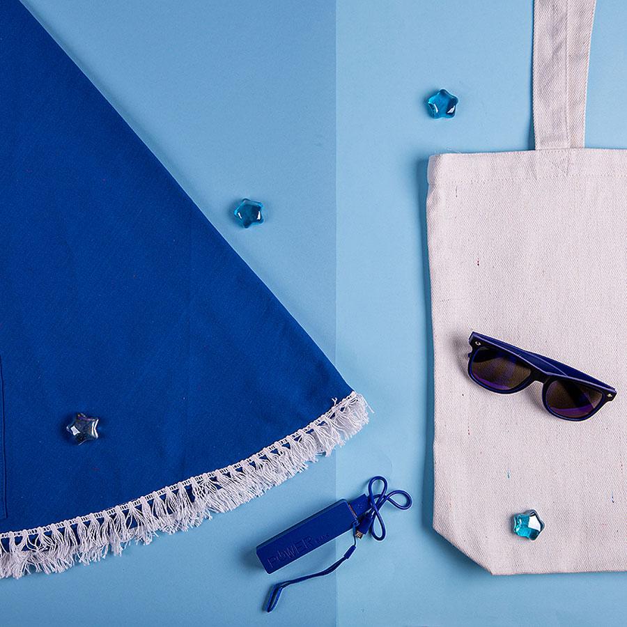 Набор подарочный OCEAN MEMORY: плед пляжный, очки, зарядное устройство, сумка