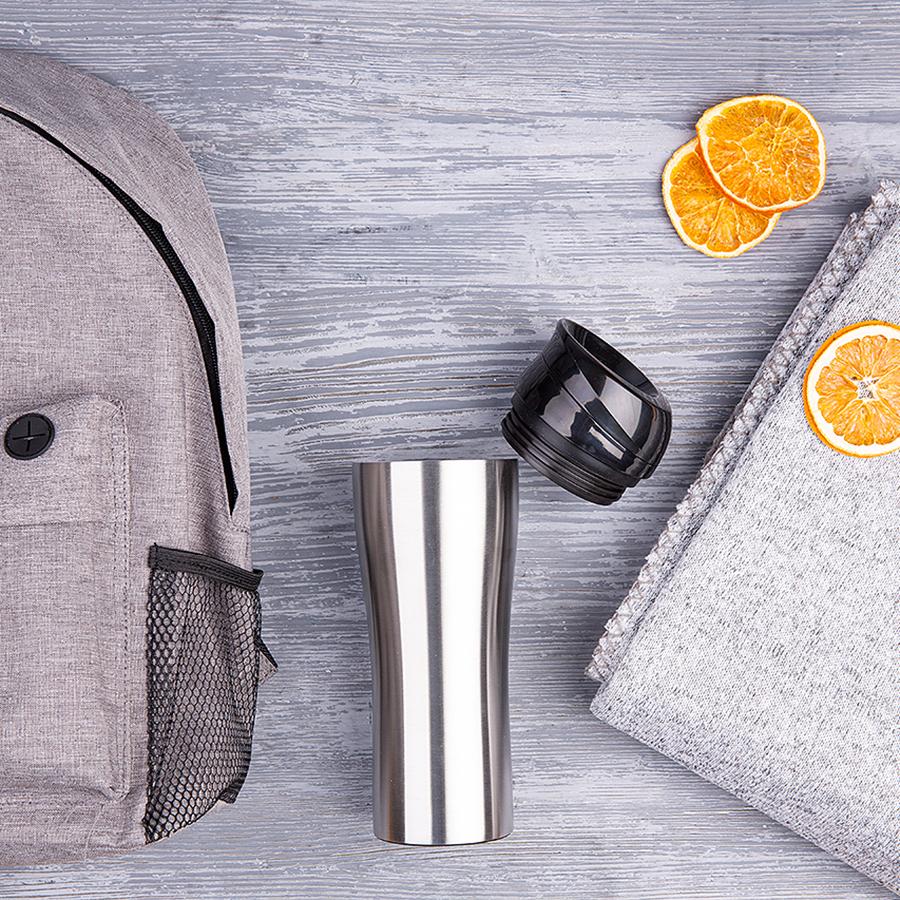 Набор подарочный RELAXINGG: плед, термокружка, рюкзак, серый