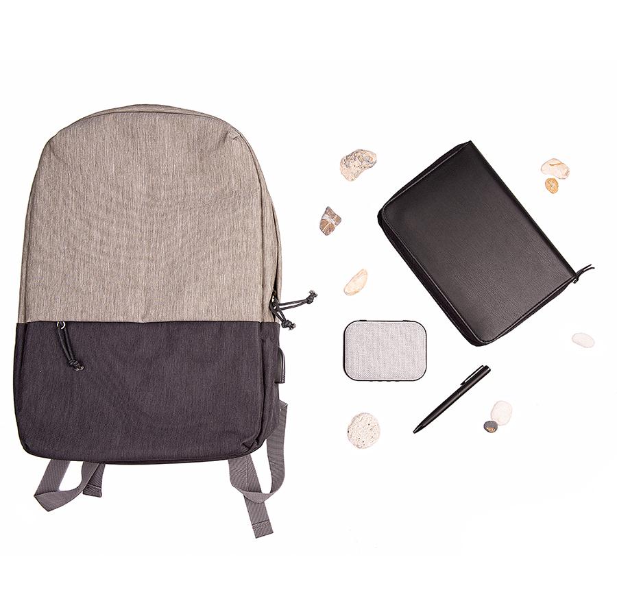 Набор подарочный CITY`LY: ежедневник, ручка, колонка, рюкзак, черный