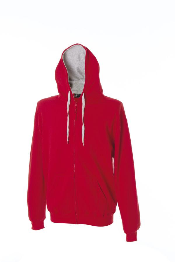 New Kansas Толстовка, с капюшоном, на молнии, красный, размер S