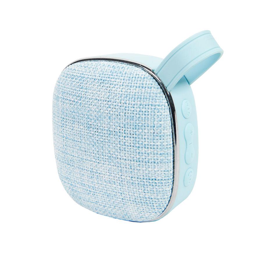 Колонка мини MAREK с текстильной решеткой голубая