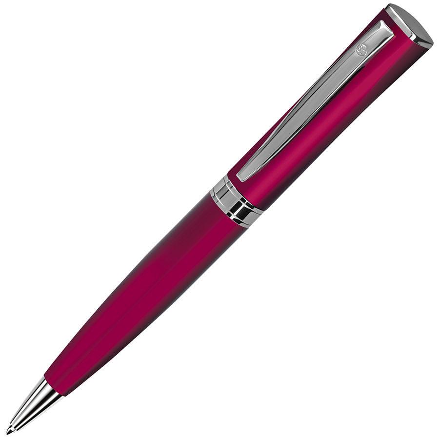 WIZARD, ручка шариковая, красный/хром
