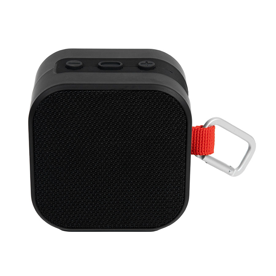 Колонка Bluetooth RHAGE квадратная с карабином, черная