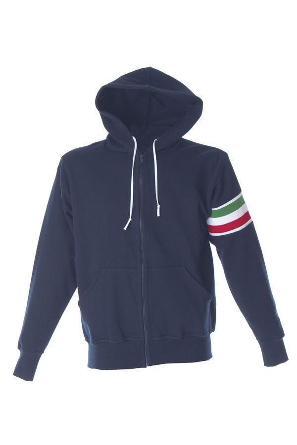 VERONA Толстовка Италия с капюшоном, на молнии, белый