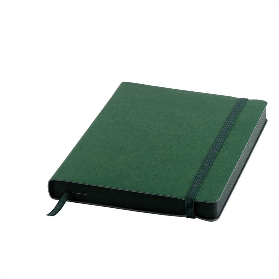 Ежедневник датированный Shady, А5,  зеленый, кремовый блок, темно-зеленый обрез