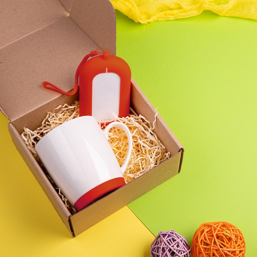 Набор подарочный MATISSE`TEAS: кружка, зарядное устройство, коробка, стружка, голубой