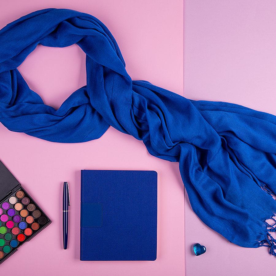 Набор подарочный VENUS BLUE: шарф, бизнес-блокнот, ручка