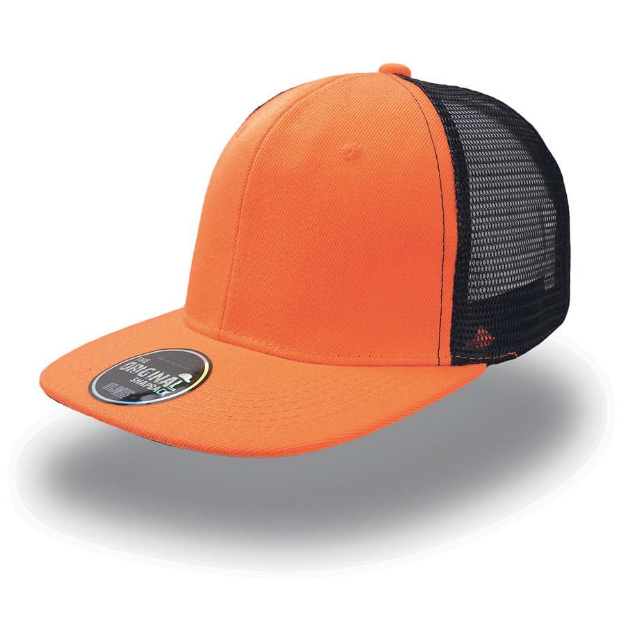 Бейсболка SNAP MESH, 6 клиньев, плоский козырек, сетка, пластиковая застежка пвх
