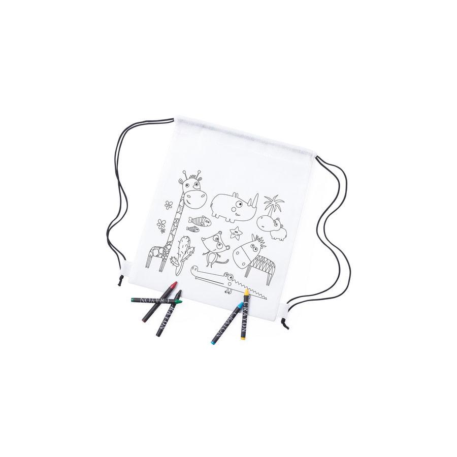 Рюкзак для раскрашивания WIZZY с восковыми мелками (5шт)