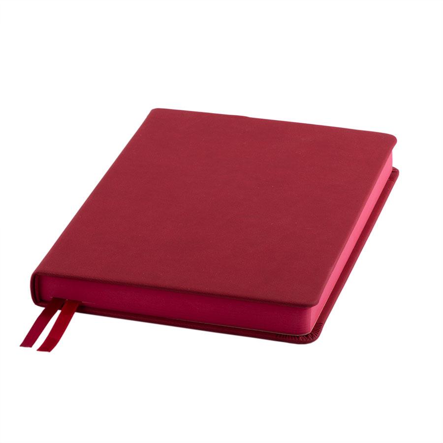 Ежедневник датированный Softie, А5, бордовый, кремовый блок, бордовый обрез