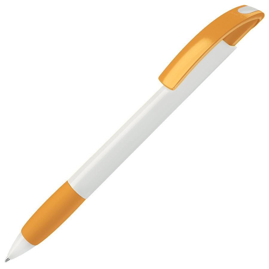 NOVE, ручка шариковая с грипом, желтый/белый, пластик