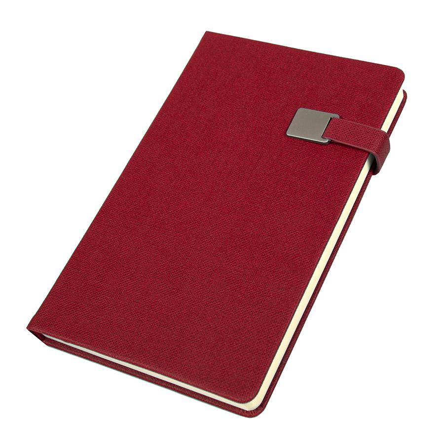Ежедневник недатированный Linnie, А5, красный, кремовый блок