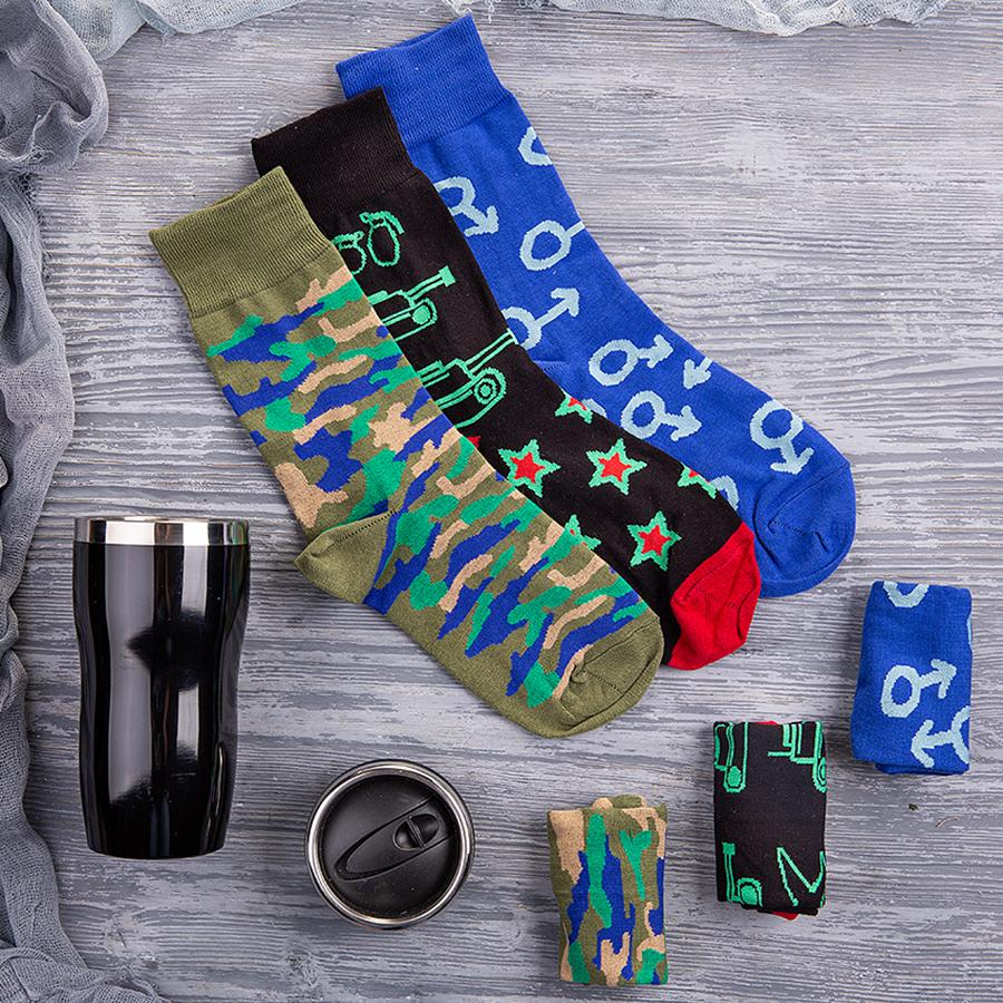Набор подарочный BRIGHTTIGHT: термокружка, носки, коробка, стружка, черный