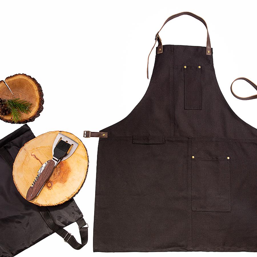 Набор подарочный STEAKBOSS: фартук, набор для барбекю, рюкзак