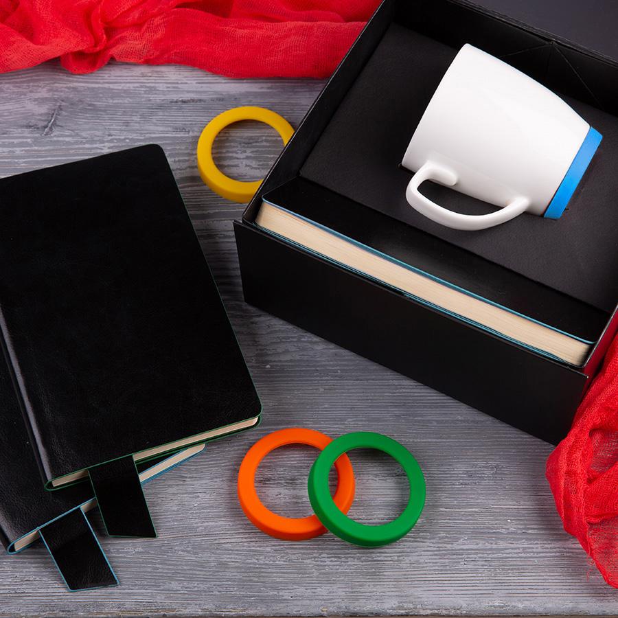 Набор подарочный SMART TALK: бизнес-блокнот, кружка, коробка, голубой