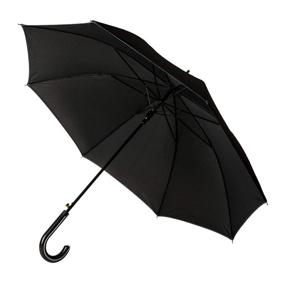 Зонт-трость OXFORD с ручкой из искусственной кожи,полуавтомат