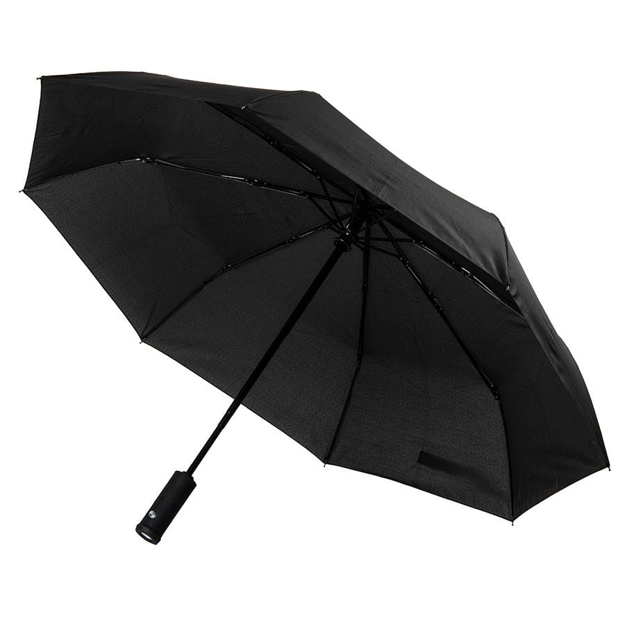 Зонт складной PRESTON с ручкой-фонариком, полуавтомат