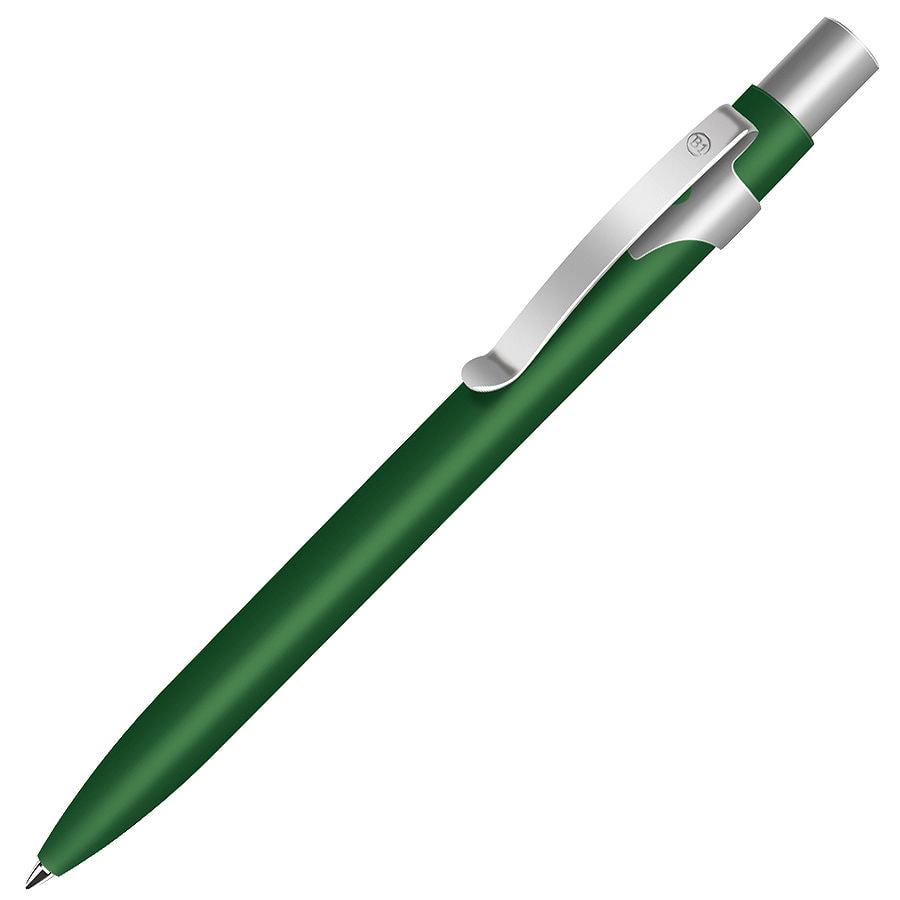 ALPHA, ручка шариковая, зеленый/хром, металл