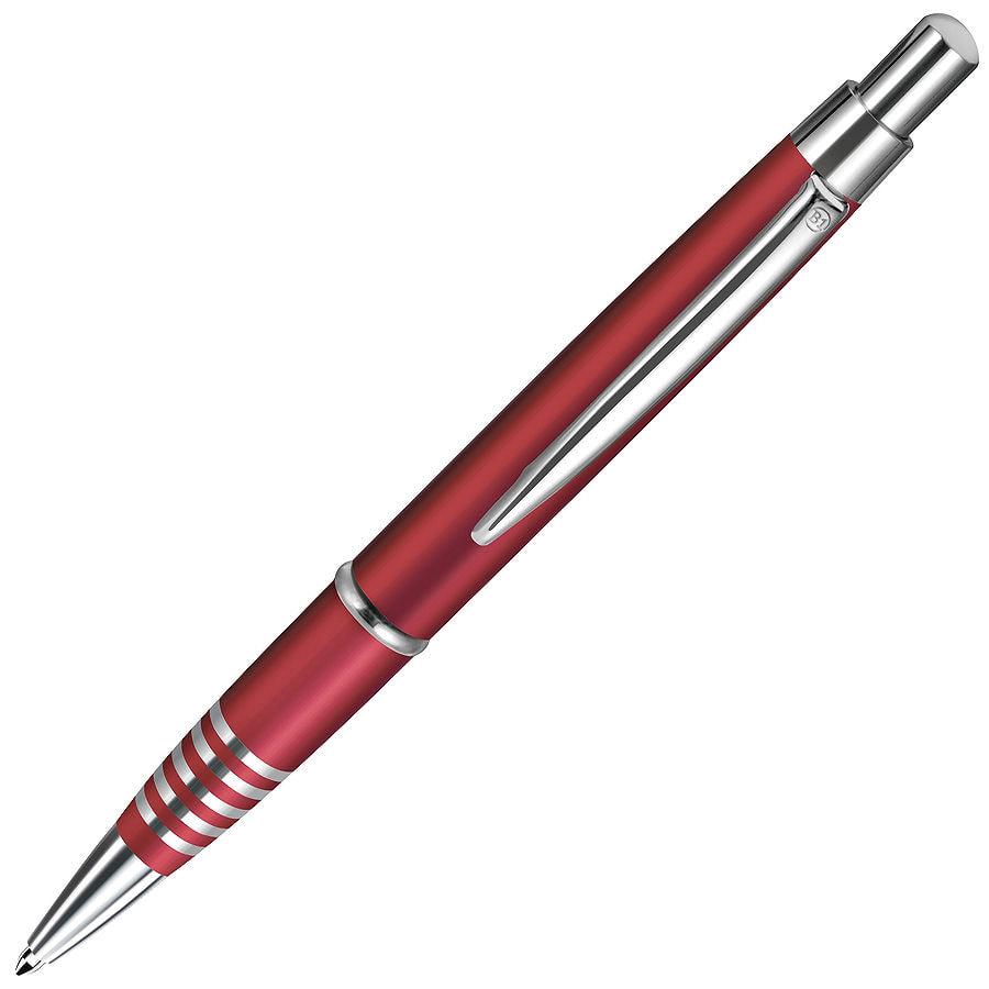 SELECT, ручка шариковая, красный/хром