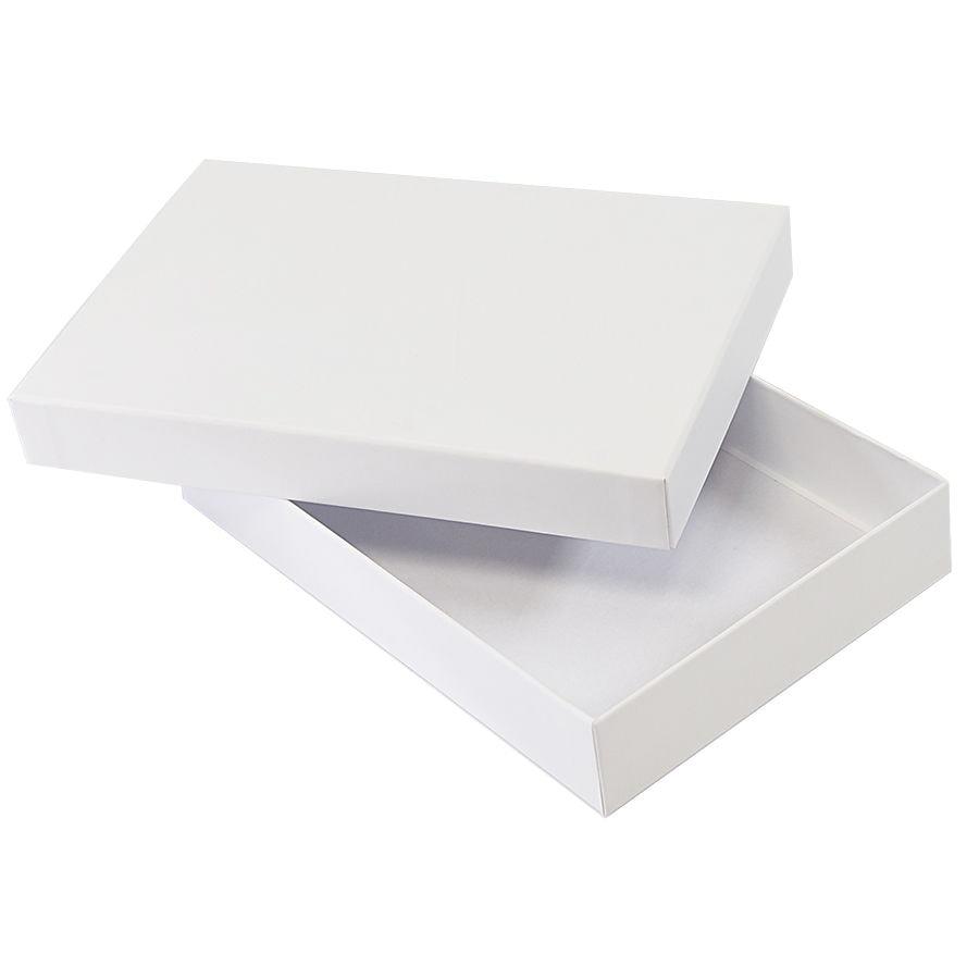 Коробка подарочная,  белый, 16х24х4 см