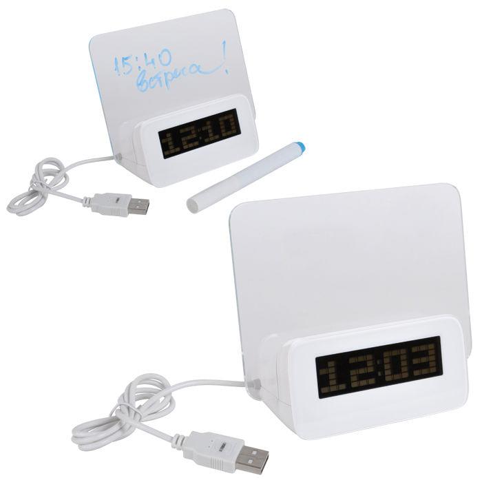 USB-разветвитель с часами и полем для заметок