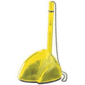 STILL, ручка шариковая с держателем, прозрачный желтый, пластик