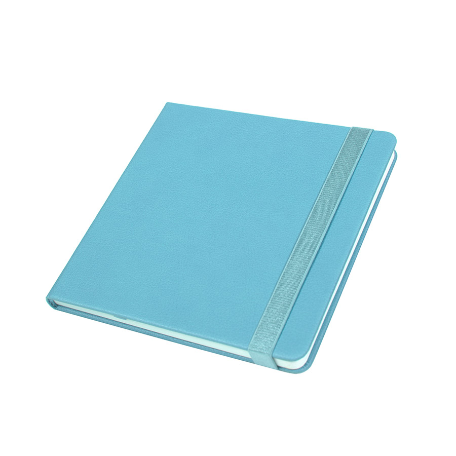 Ежедневник недатированный Quadro, A5-, бирюзовый, кремовый блок