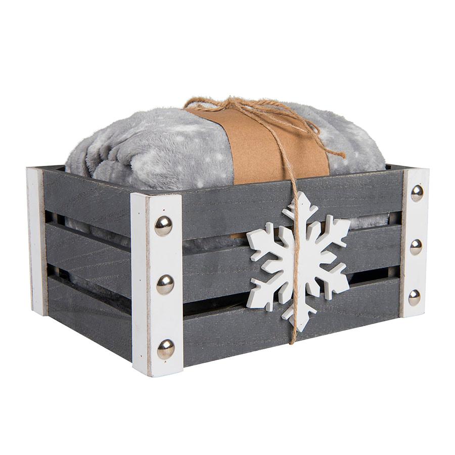 Плед новогодний GIFT в подарочной коробке
