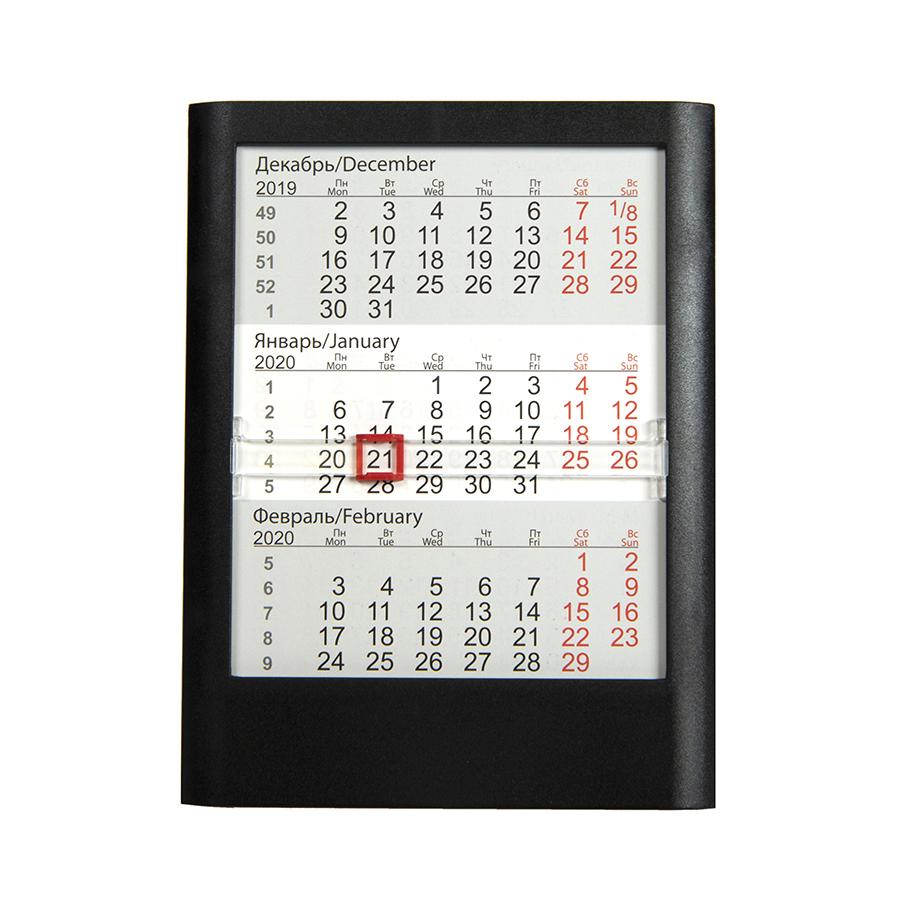 Календарь настольный на 2 года ; белый; 12,5 х16 см; пластик; тампопечать, шелкография