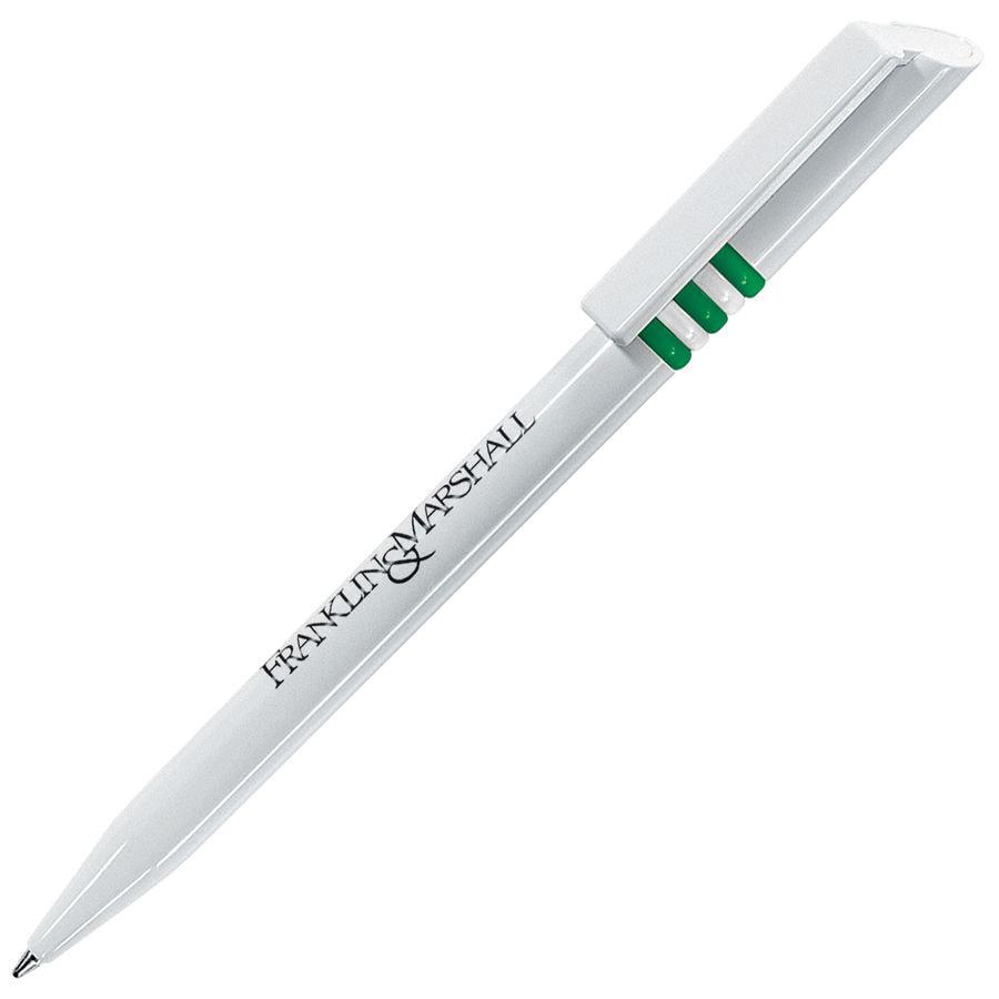 GRIFFE, ручка шариковая, зеленый/белый, пластик