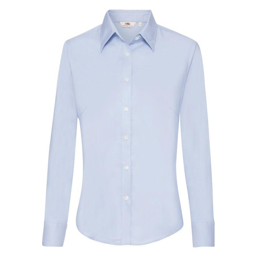 Рубашка женская LONG SLEEVE OXFORD SHIRT LADY-FIT 135