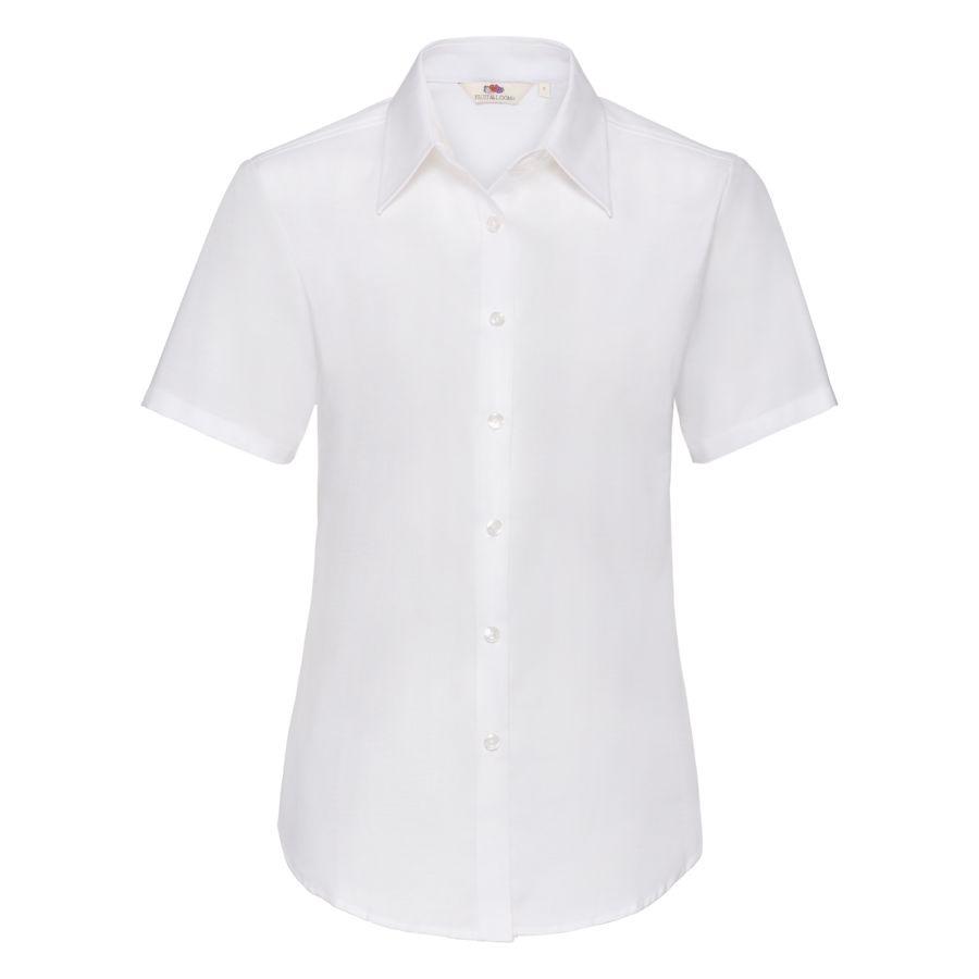 Рубашка женская SHORT SLEEVE OXFORD SHIRT LADY-FIT 130