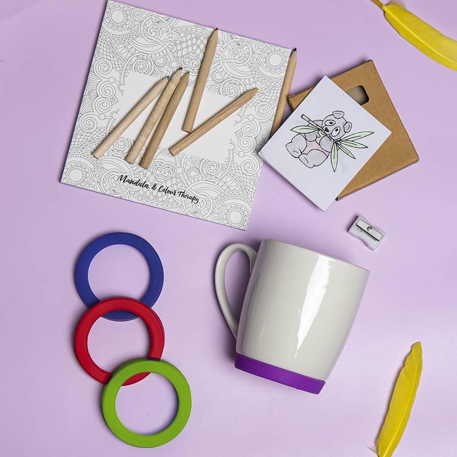Набор подарочный IMPRESSIONISTA: альбом, набор цветных карандашей, кружка, коробка, стружка