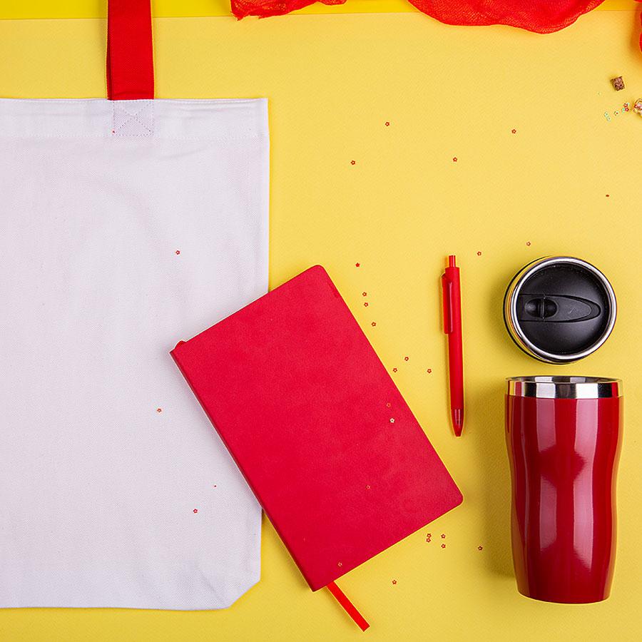 Набор подарочный SWEETFACE: бизнес-блокнот, ручка, термокружка, сумка