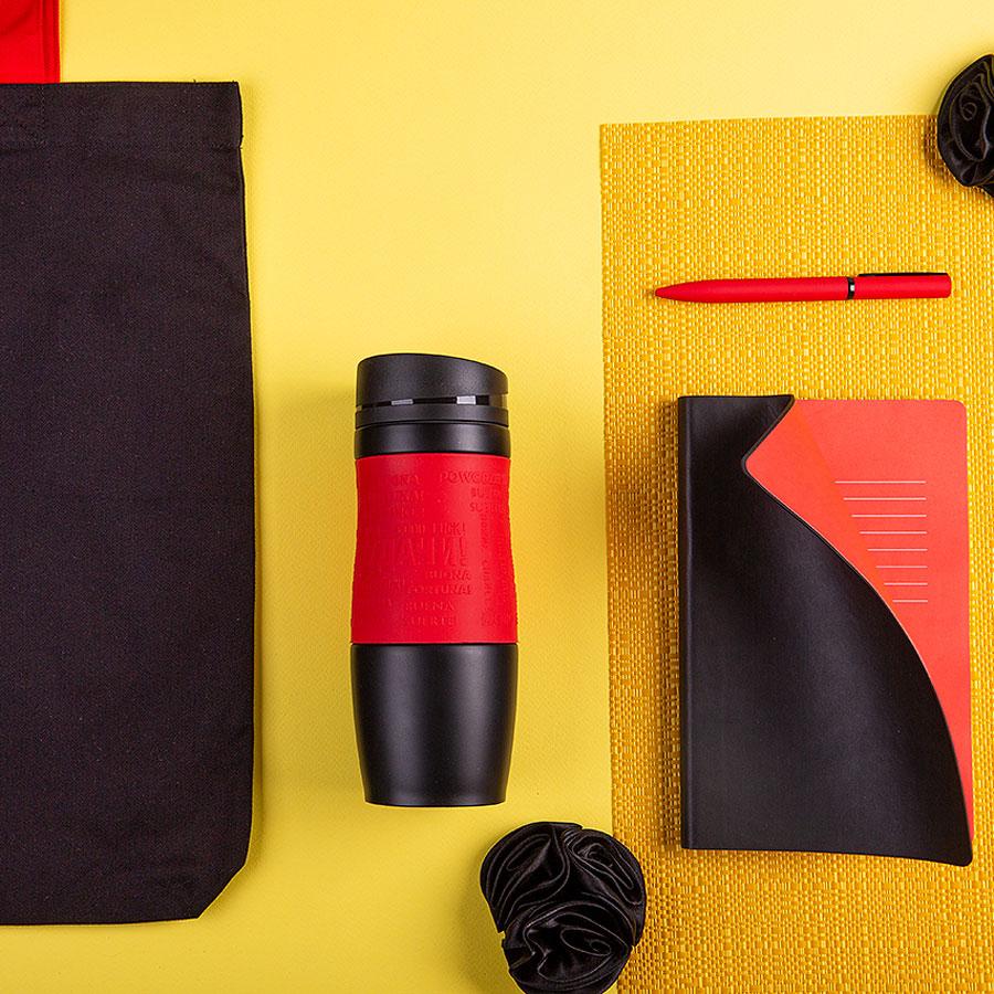 Набор подарочный MAYBE`DEVIL: бизнес-блокнот, ручка, термокружка, сумка