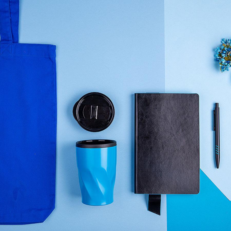 Набор подарочный VIBES4HIM: бизнес-блокнот, ручка, термокружка, сумка